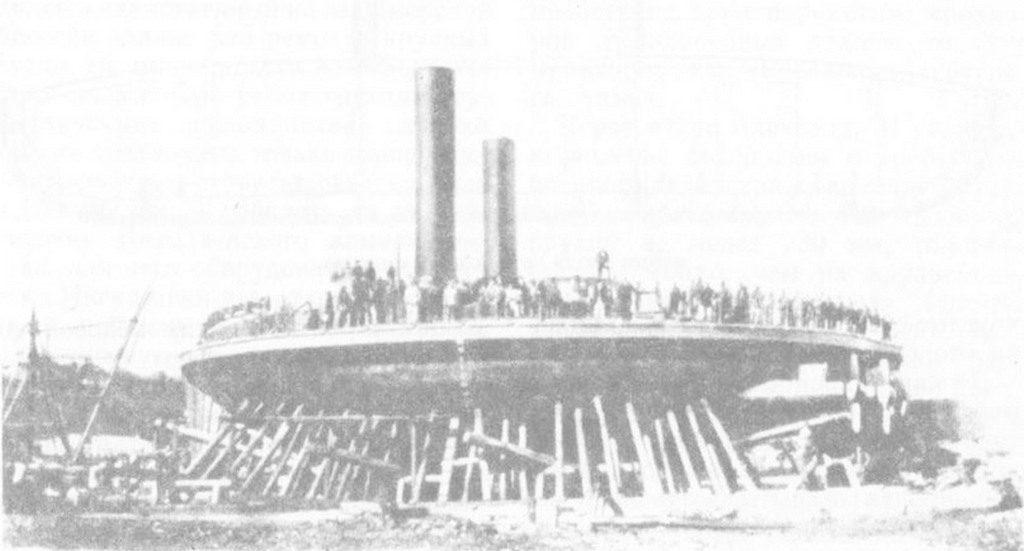 Броненосец «Новгород» на стапеле (1873)