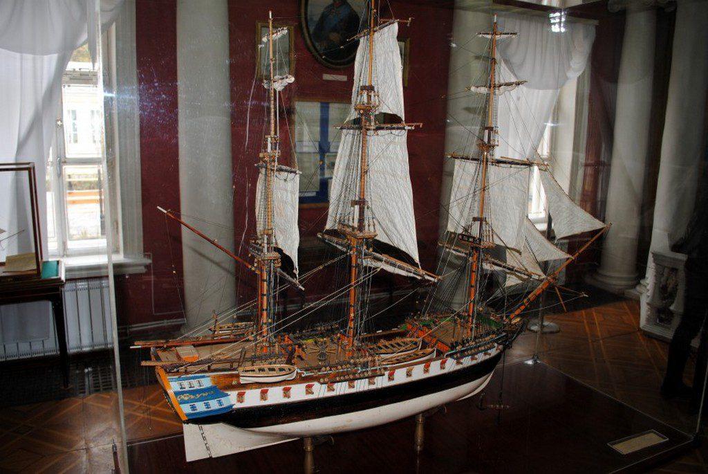 Модель фрегата «Святой Николай» в музее судостроения (1)