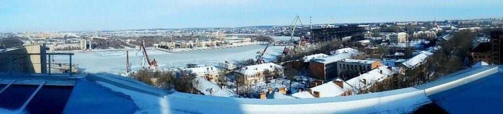 Панорама зимнего Николаева