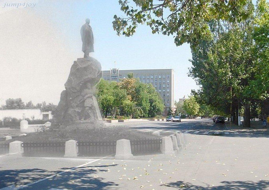 Площадь Ленина (тогда и сейчас) (1)