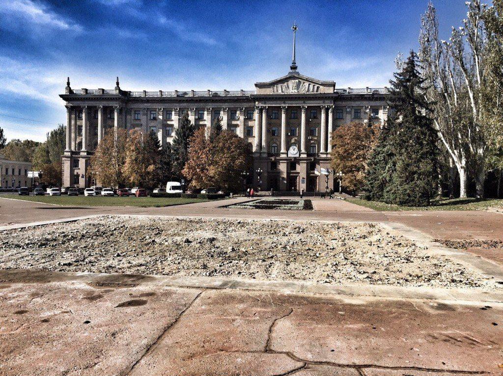 После сноса постамента памятника Ленину