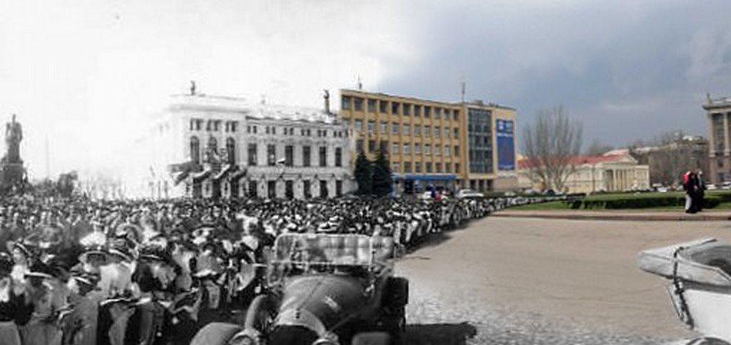 Соборная площадь (тогда и сейчас) (2)