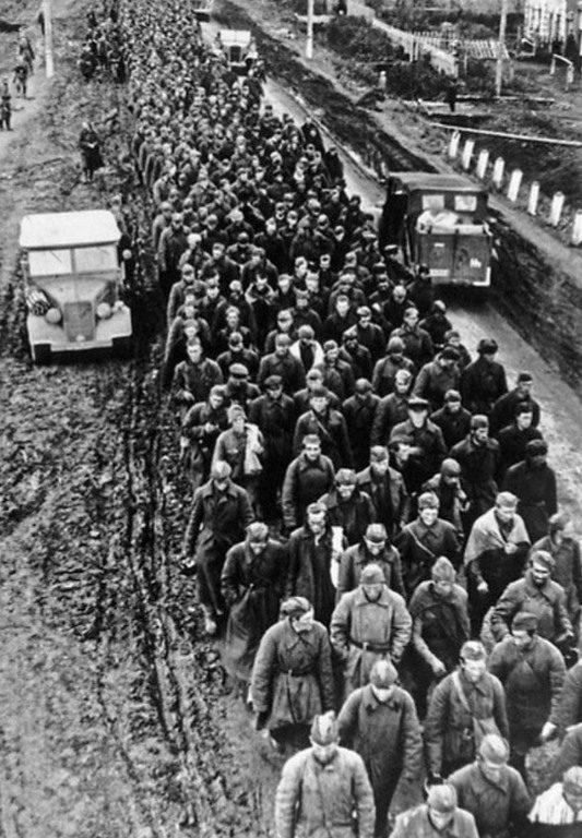 Транспортировка советских военнопленных