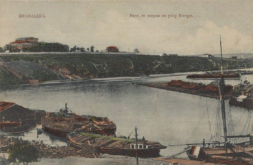 Вид со дворца на реку Ингул